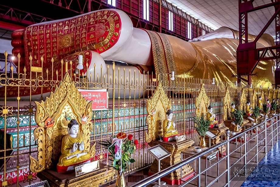 Tourist attractions in Yangon (Myanmar).