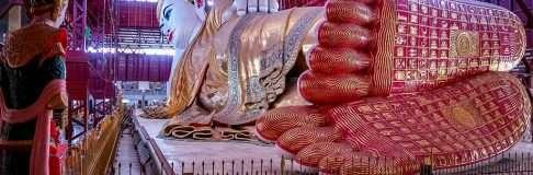 Chauk Htat Gyi Pagoda – Reclining Buddha Yangon Myanmar 6