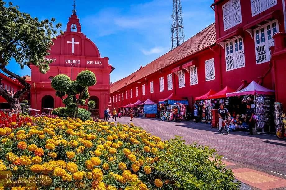 Christ Church and Stadthuys in Melaka / Malacca (Malaysia)