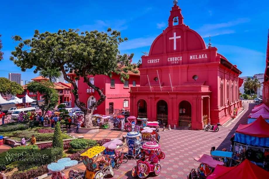 Tourist attractions in Malacca (Malaysia).