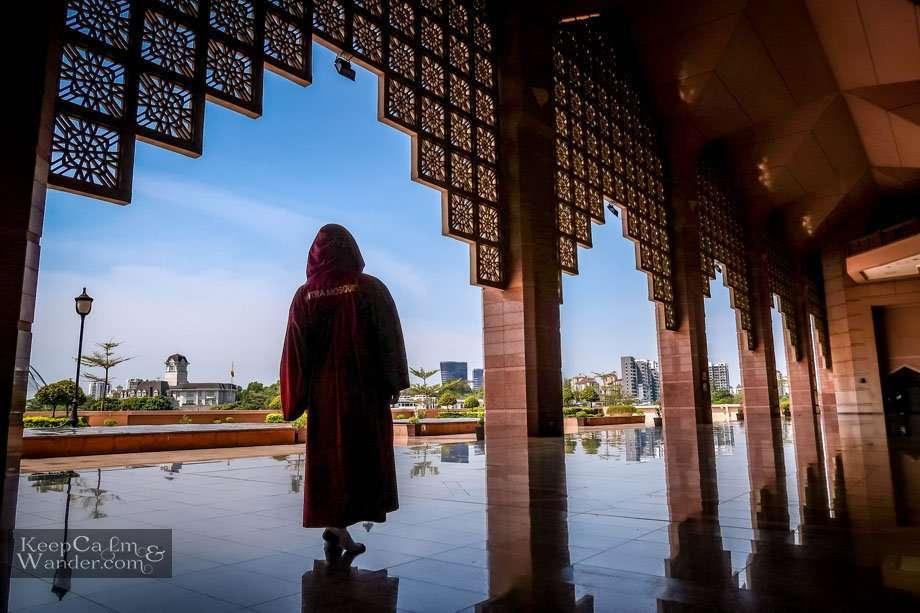 Inside the Pink Mosque in Putrajaya - Half-Day Trip from Kuala Lumpur (Malaysia).