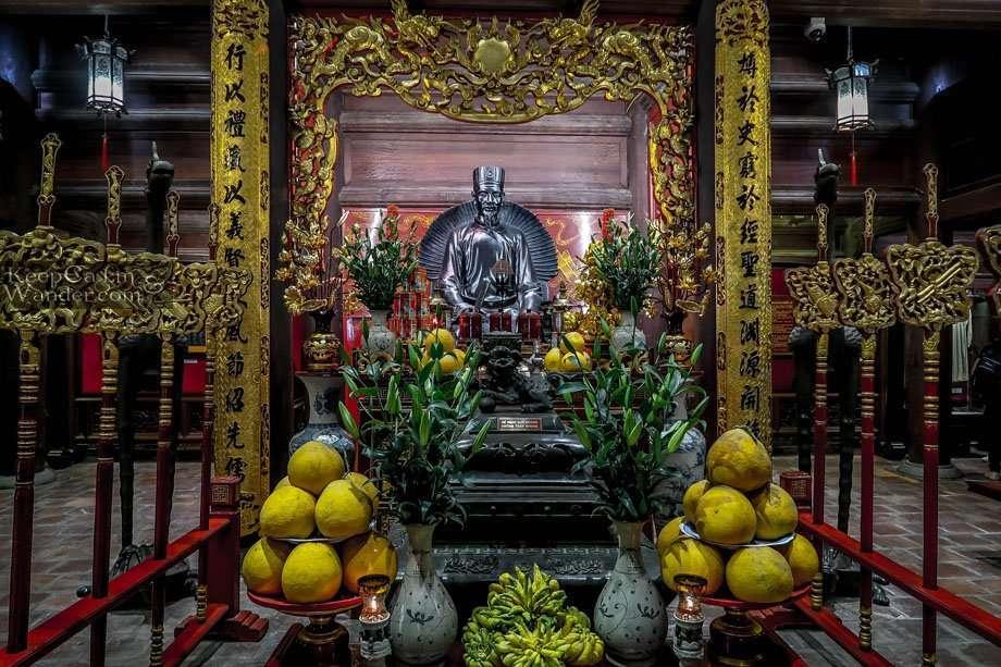 Temple of Literature in Hanoi  (Vietnam). Confucius