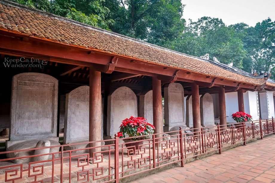 stelae temple Tourist attractions in Hanoi (Vietnam).