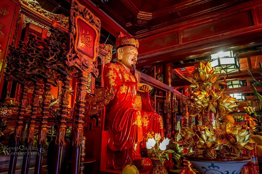 Temple of Literature in Hanoi  (Vietnam).