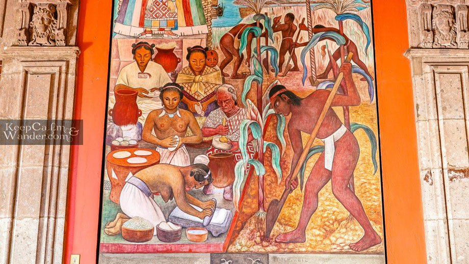 The Mural and Paintings of Deigo Rivera at the Staircase