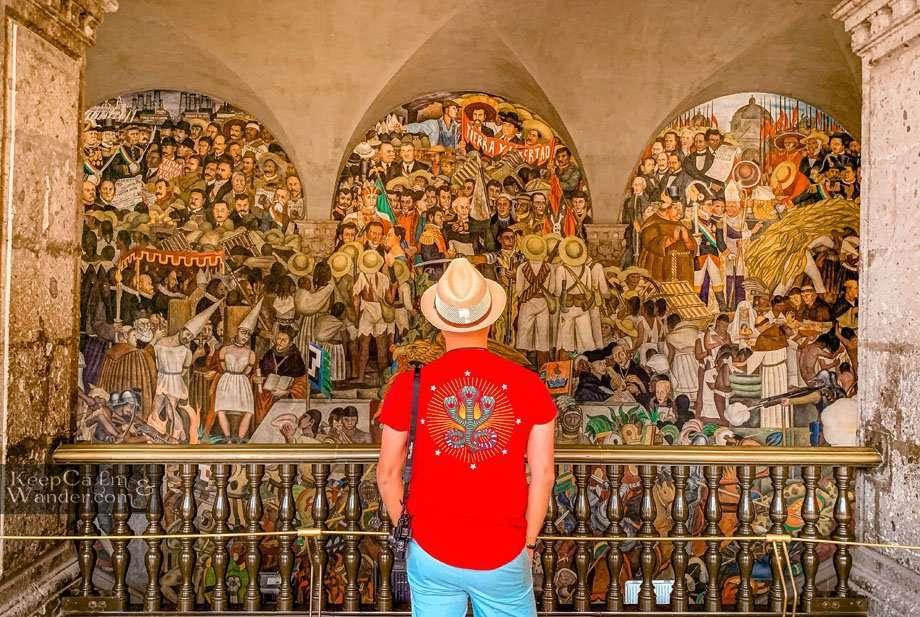 Inside the Palacio Nacional in Mexico City - The Mural and Paintings of Deigo Rivera