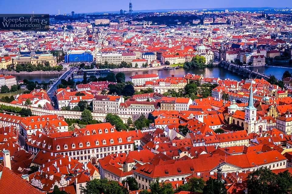 Tourist attractions in Prague.