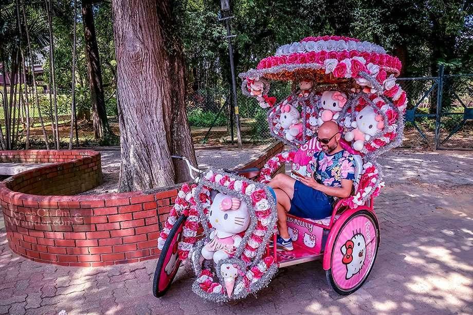 These Rickshaws in Melaka Malaysia