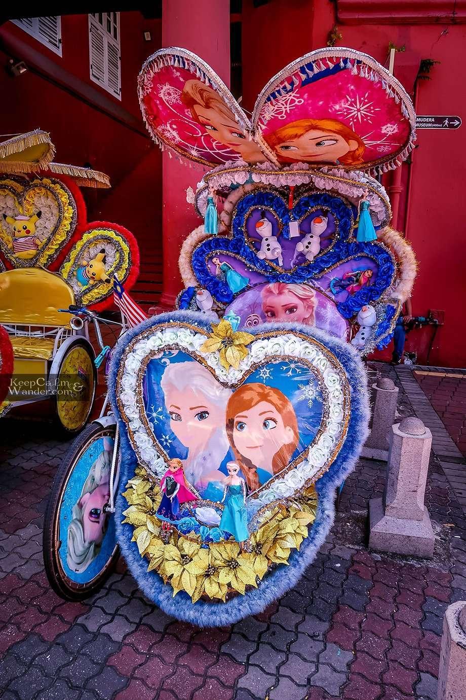 These Rickshaws in Melaka Malacca