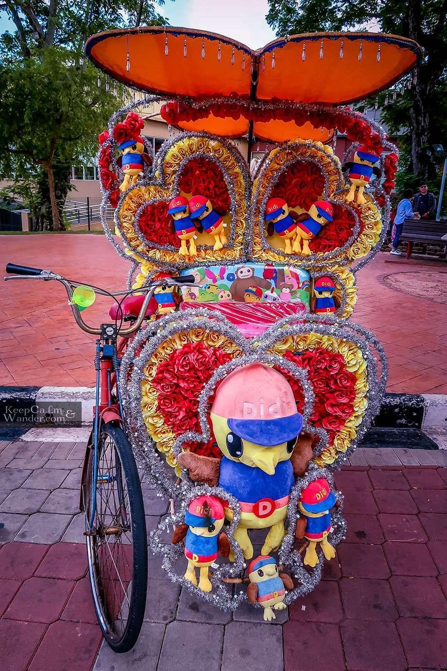 Rickshaws in Melaka Malaysia