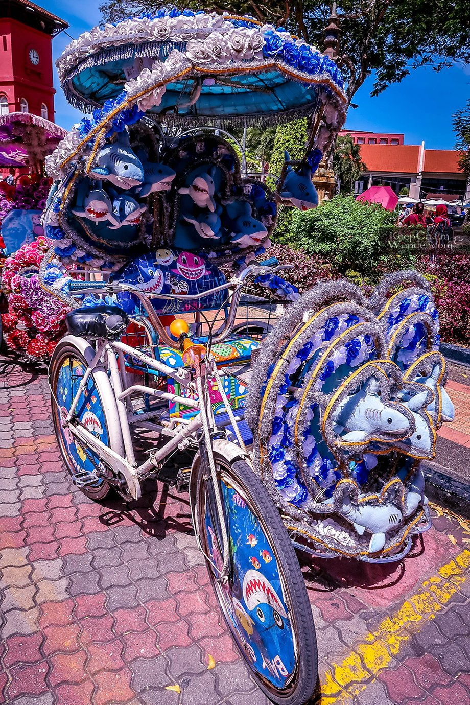 Beautiful Tuktuks in Melacca.