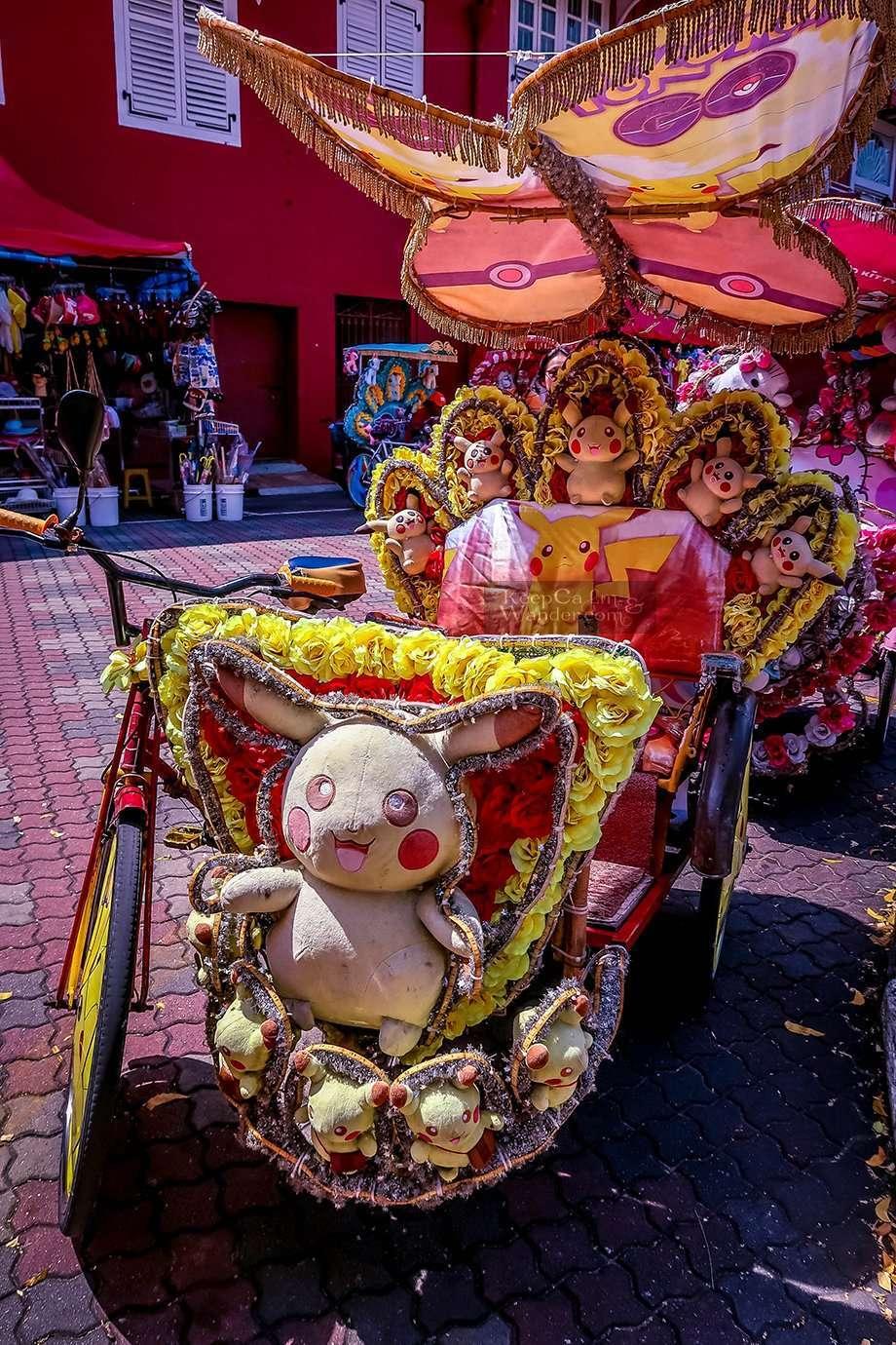 Rickshaws in Melaka Malaysia Tuktuk