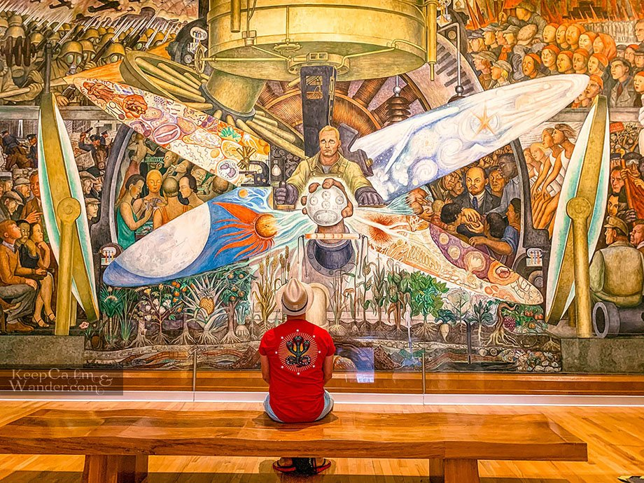 Diego Rivera Mural Controller of the Universe Man at the Crossroads Palace of Fine Arts Mexico