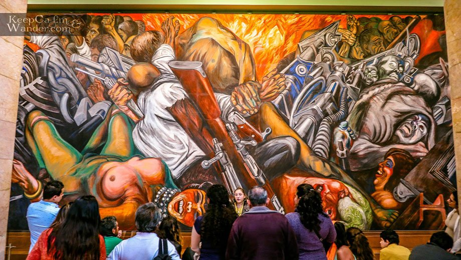 """Catharsis"" by Jose Clemente Orozco Palace of Fine Arts"