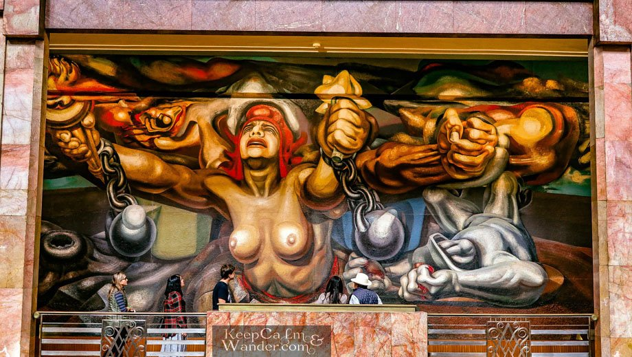 "David Alfara Sequiro ""New Democracy"" Palace of Fine Arts Mexico"