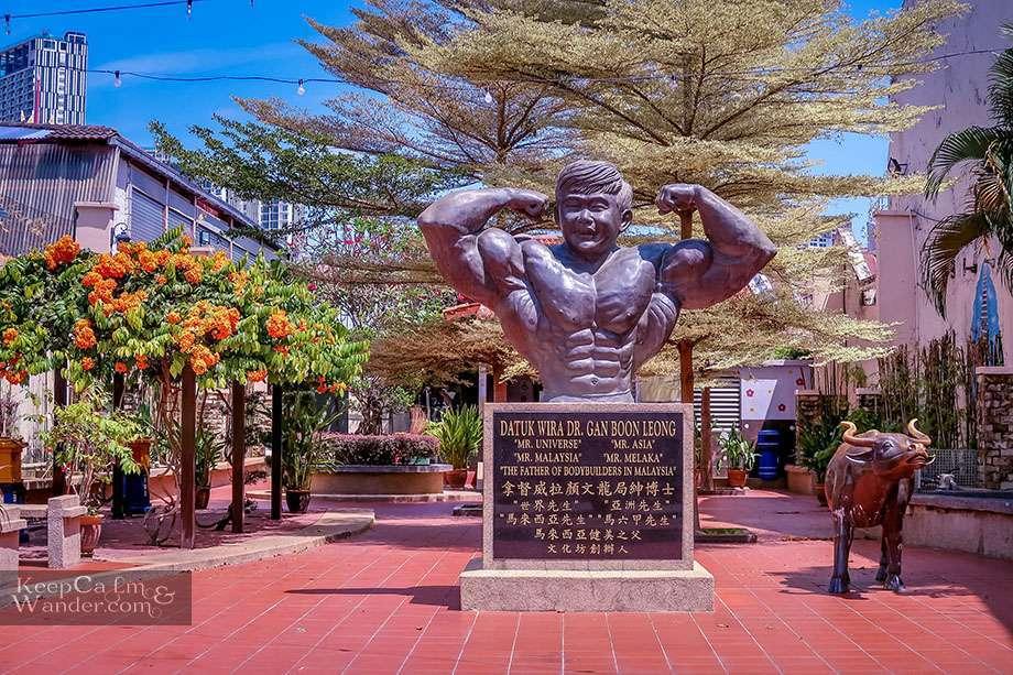 Statue of Bodybuilder Datuk Wira Dr. Gan Boon Leong Malacca Malaysia - Malaka Walking Tour